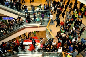 crowded mall, crowds, being green, choose now ministries