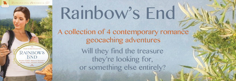 rainbow's end, geocaching, inspy romance, inspirational romance