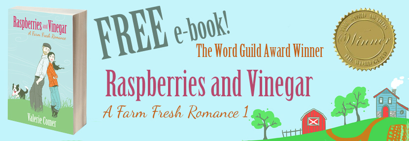 The Word Guild Award, raspberries and vinegar, a farm fresh romance, farm lit, valerie comer