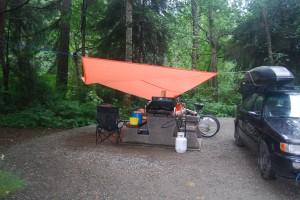 Camping at Elk Falls