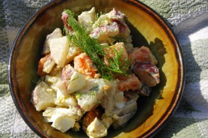 honey mustard potato salad
