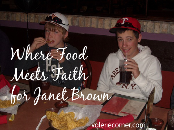 where food meets faith, janet brown,