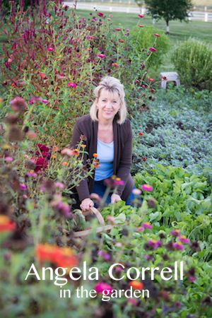 angela correll, in the garden, grounded, farm lit