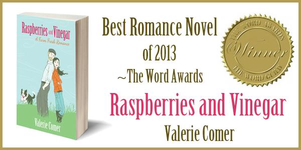 the word guild, 2013, 2014, the word award, winner, contemporary romance, valerie comer, raspberries and vinegar