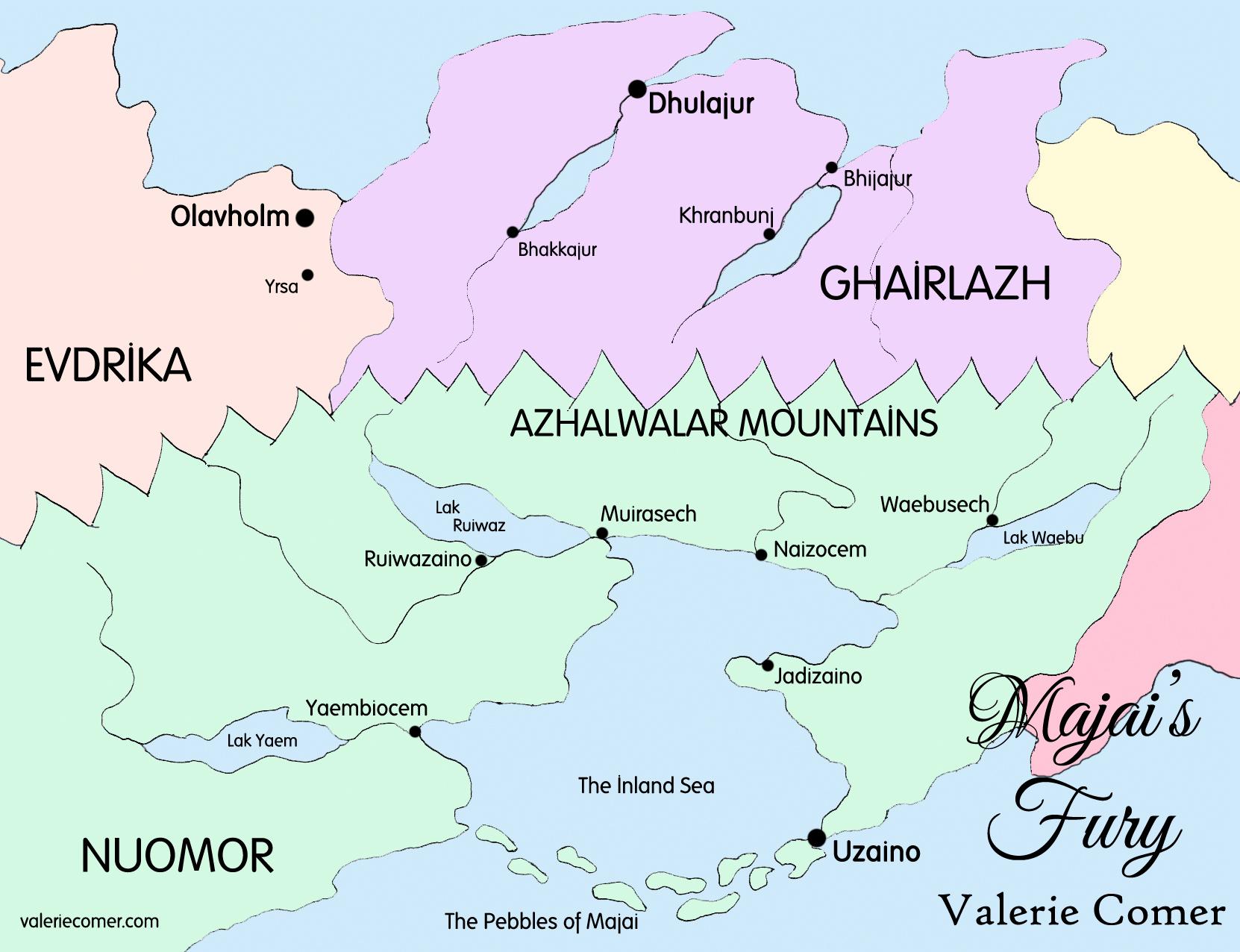 Majai's Fury, Lands of Azhalawar, Valerie Comer