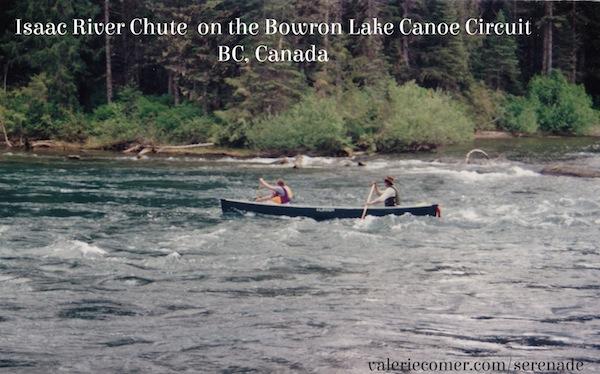 Isaac River chute, Bowron lakes, canoe