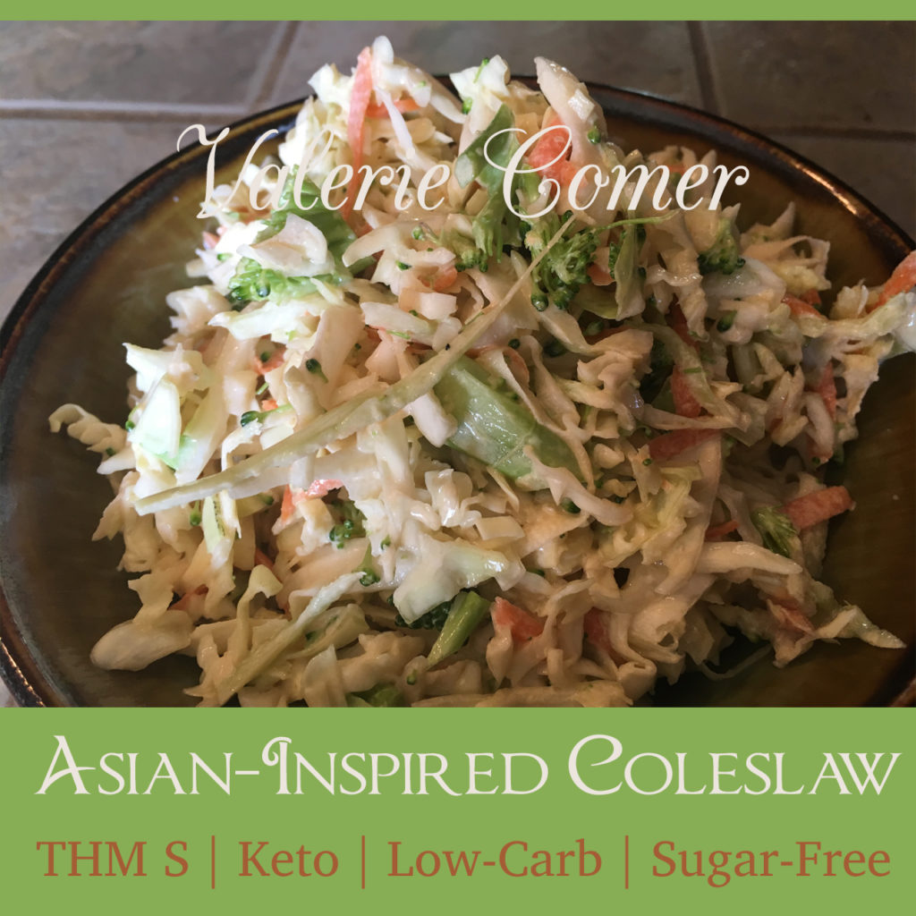 Trim Healthy Mama S, keto, ketogenic, low-carb, sugar-free, coleslaw